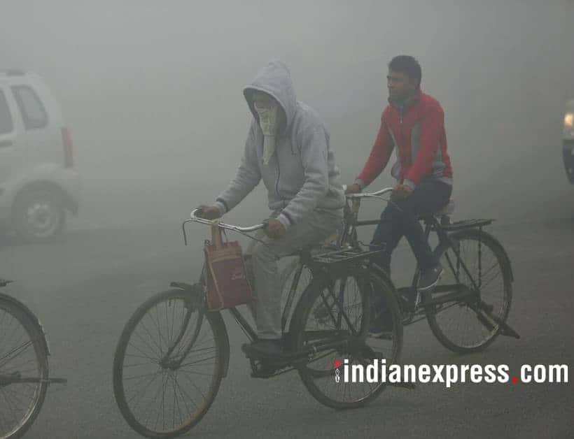 delhi weather, india weather, cold wave conditions, delhi fog