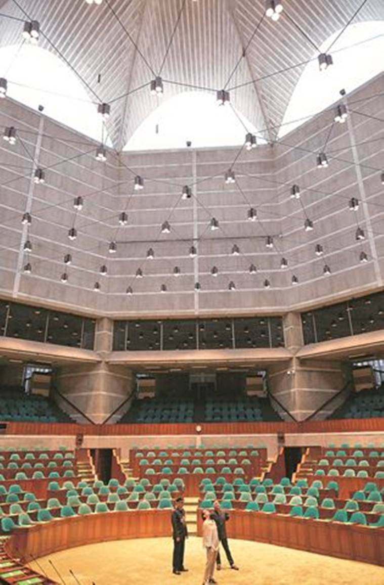 Dhaka National Assembly Building, National Assembly Building Dhaka, American architect Louis Kahn, Louis Kahn, Sundaram Tagore, Sundaram Tagore's Movie, Lifestyle News, Indian Express, Indian Express News