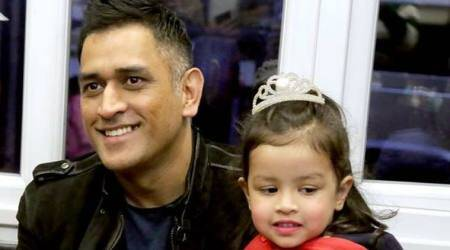 MS Dhoni attends daughter Ziva's annual day