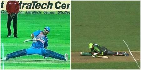 Pakistan skipper Sarfraz Ahmed's failed attempt of MS Dhoni's unusual split leaves Twitterati amused