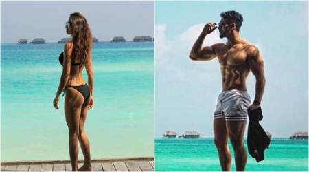 Disha Patani and Tiger Shroff flaunt their beach bodies and give holiday goals this New Year