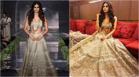 Disha Patani's showstopper outfit has us convinced that platinum is the way to go for wedding lehengas