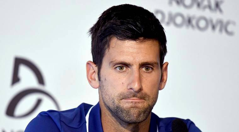 Novak Djokovic during a press conference