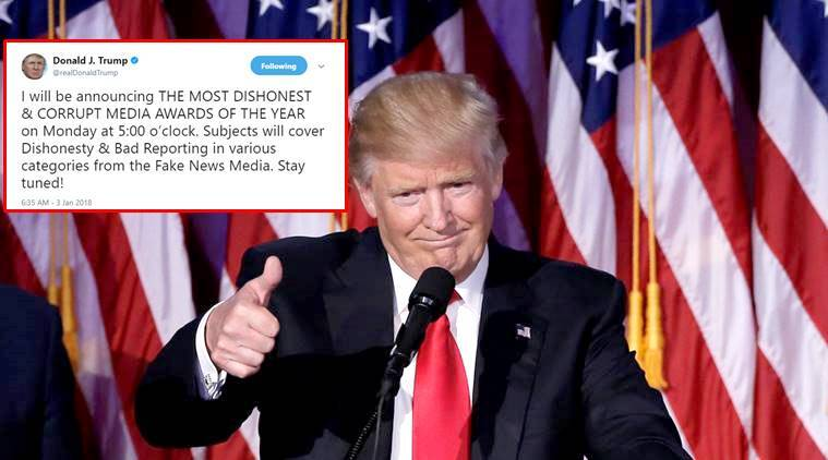Donald Trump, Donald Trump Fake news awards, Donald Trump viral tweets