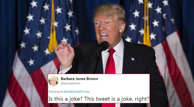 Donald Trump, donald trump tweet, donald trump really smart tweet, donald trump stable genius tweet, donald trump trolled, twitter reactions, indian express, indian express news