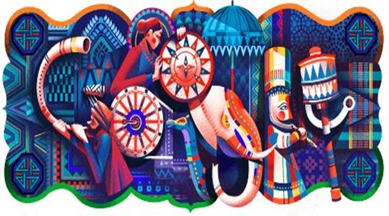 Google celebrates India's 69th Republic Day with colourful doodle