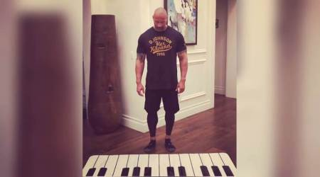 Dwayne 'The Rock' Johnson fulfils lifelong dream of playing his favourite song on the piano (and it's adorbs!)