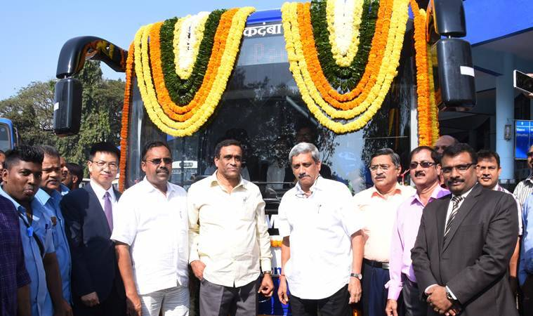 Goa govt flags off electric bus