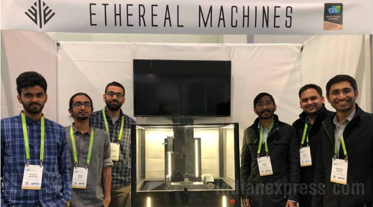 CES 2018, 3D printer, 3D printing, 3D printer price, CES LAs Vegas, Ethereal Halo, five axis 3D printer, Ethereal Machines