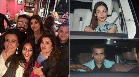 Anil Kapoor, Karan Johar, Abhishek Bachchan and others attend Farah Khan's birthday dinner. See photos