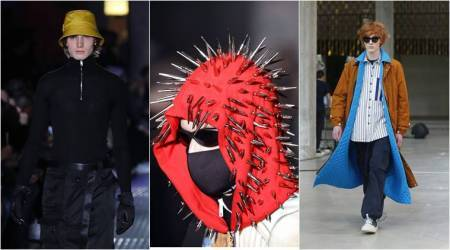 Milan Fashion week, Giorgio Armani, Giorgio Armani men's Fall-Winter 2018-19 collection, DSquared 2, sunnei, sartorial monk, indian express, indian express news