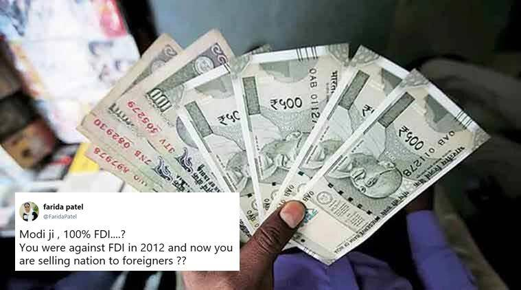 FDI, foreign direct investivent, 100 percent FDI, single brand retail FDI, caninet fdi rule, fdi in retail move, fdi in air india, narendra modi, arun jaitley, india news, business news, indian express