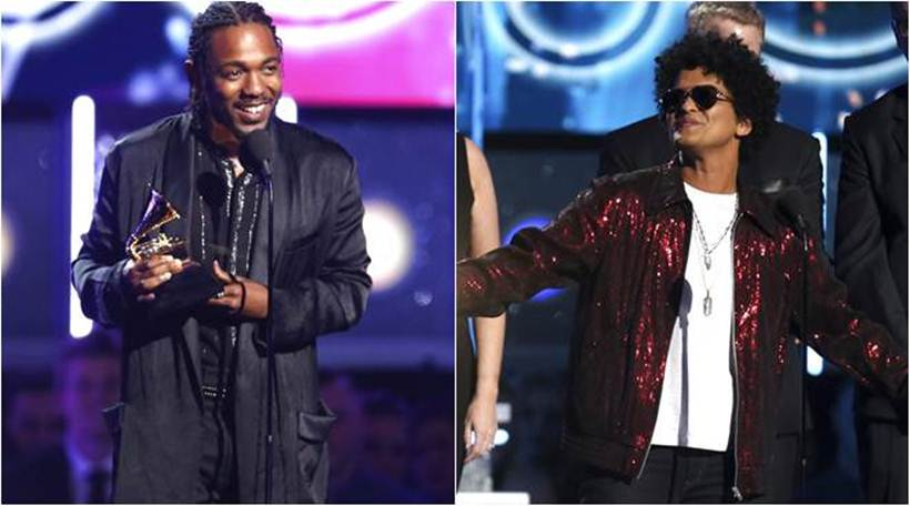 Bruno Mars and Kendrick Lamar dominates 2018 Grammys
