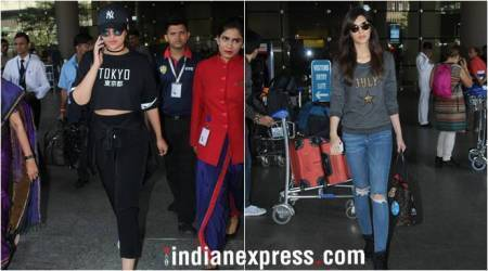 Sonakshi Sinha, Kriti Sanon spotted at the airport