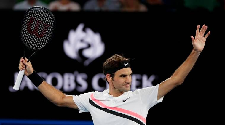 Roger Federer after the win against Tomas Berdych