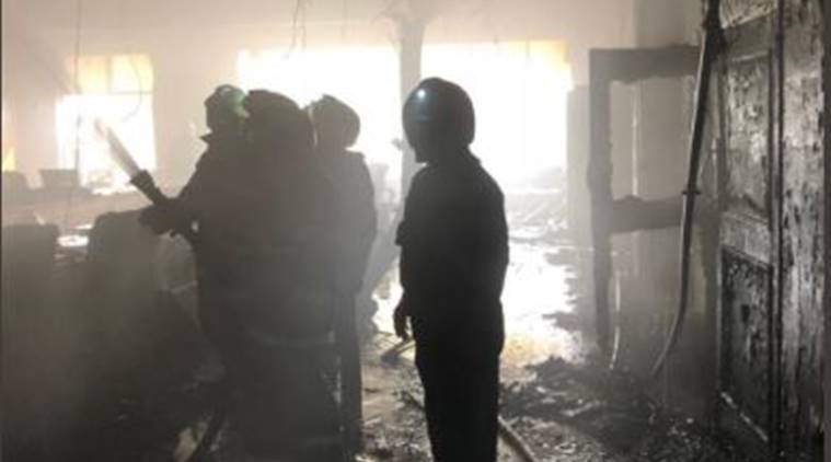 Woodwork factory gutted in fire in Noida