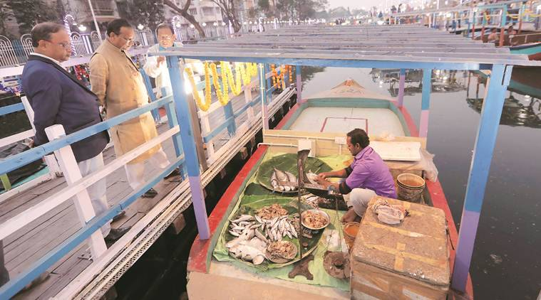 West bengal's first floating market, Kolkata, Chief Minister Mamata Banerjee, floating market, Netaji Indoor Stadium, indian express