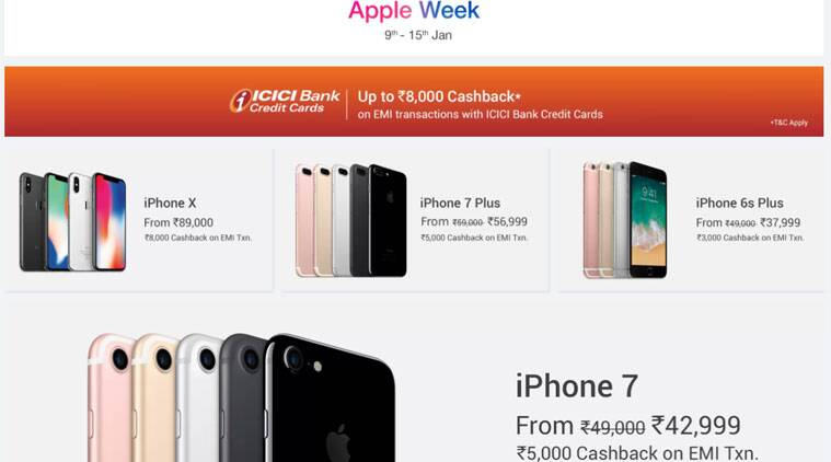 Flipkart, Flipkart Apple Week, Flipkart iPhone X offer, Flipkart iPhone X cashback, Flipkart iPhone 8 Cashback, Flipkart MacBook Air, MacBook Air discount