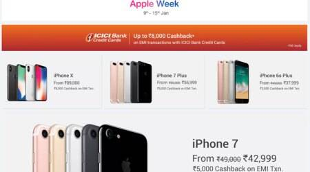 Flipkart Apple Week, Flipkart iPhone X offer, Flipkart iPhone X cashback, iPhone 8 discount, Flipkart, Flipkart iPhone 8 Cashback, Flipkart MacBook Air, MacBook Air discount