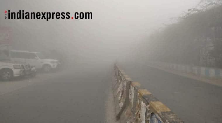 Misty morning in Delhi