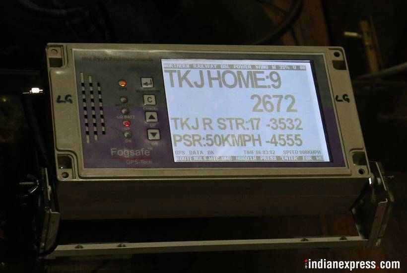 delhi fog, fog, fog safety device, indian railways, irctc, irctc.com, fog, train timings, train late fog, GPS technology, fog safety device photo, GPS fog, india news, indian express news