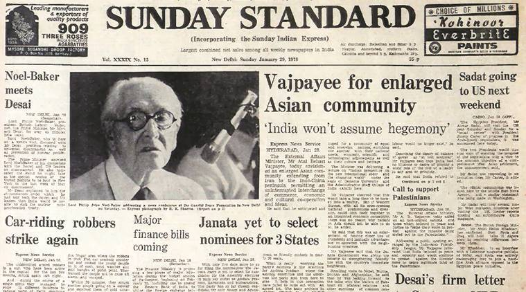 Atal Behari Vajpayee, Israel, Palestinians, Asian community, B P Koirala, Nepal, Indian Express