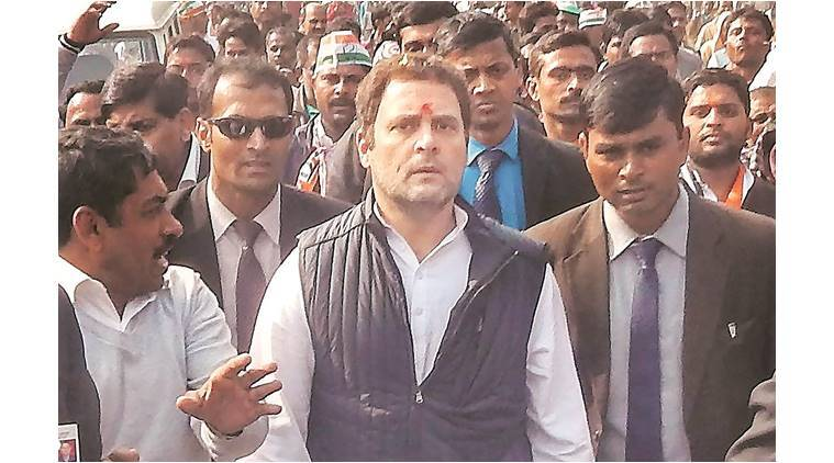 BJP protest makes Rahul change route