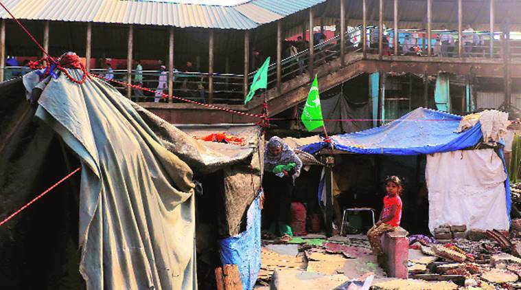 Garib Nagar fire: Two months after blaze, families erect temporary sheds on rubble