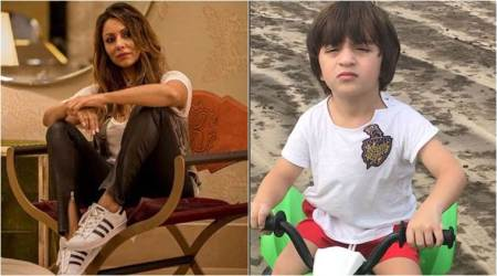 Gauri Khan shares a super adorable click of son AbRam; calls him 'My Knight Rider'