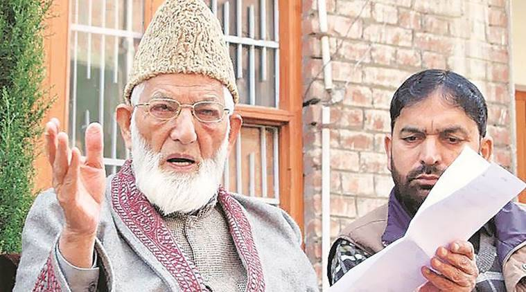 Syed Ali Shah Geelani resignation, Pakistan medical college racket, Hurriyat Conference, Kashmir news, Indian express news