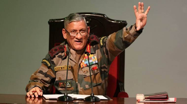indian army, General Bipin Rawat, Bipin Rawat on Northeast, immigration, indian army chief, illegal immigration in northeast states, indian express