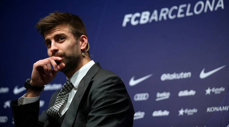 Gerard Pique, Gerard Pique Barcelona, Barcelona vs Espanyol, King's Cup, King's Cup news, sports news, football, Indian Express