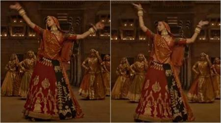 "Deepika Padukone's midriff covered in new version of Padmaavat's ""Ghoomar"""