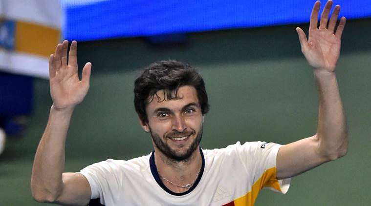 French tennis player Gilles Simon