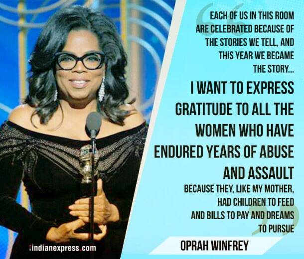 Golden Globes 2018: Inspiring quotes by Oprah Winfrey to Reese Witherspoon