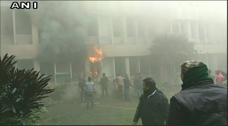 Fire at BRD Hospital; principals office, record room gutted