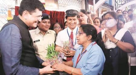 railway minister piyush goyal, indian express, women safety, CCTV across trains, matunga railway station, mumbai trains