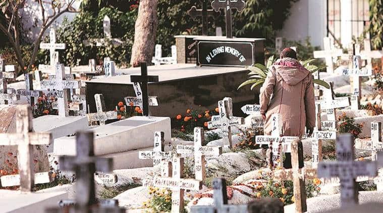 Delhi Grave, Delhi Qabristan, Delhi Grave Concerns, Batla House Qabristan, St Thomas Christian Cemetery, Delhi Cemetery, Delhi News, Indian Express, Indian Express News