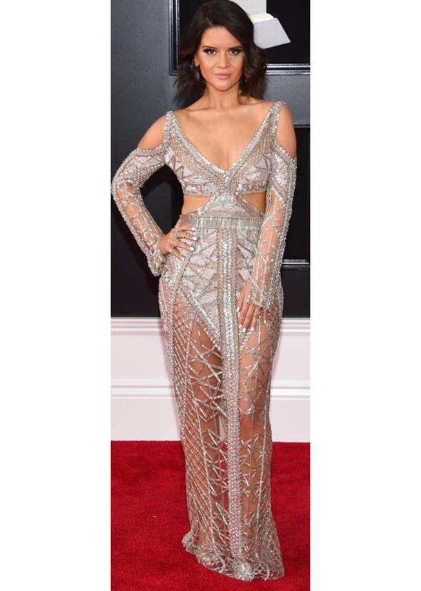 60th annual Grammy awards, 60th annual Grammy awards fashion, 60th annual Grammy awards best dressed, 60th annual Grammy awards worst dressed, Miley Cyrus, Miley Cyrus fashion, Lady Gaga, Lady Gaga fashion, Lana Del Rey, Maren Morris , Joy Villa, indian express, indian express news