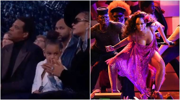 60th annual Grammy awards, 60th annual Grammy awards memes, Grammy awards memes, best memes of Grammy awards, best memes of grammy 2018, Miley Cyrus, Rihanna, Rihanna dance memes, Joy Villa, Tony Bennett, Indian express, Indian express news