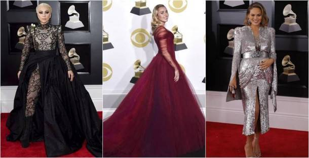 60th annual Grammy awards, 60th annual Grammy awards fashion, 60th annual Grammy awards best dressed, 60th annual Grammy awards worst dressed, Miley Cyrus, Miley Cyrus fashion, Lady Gaga, Lady Gaga fashion, Chrissy teigen, rihanna, pink, Lana Del Rey, Maren Morris , Joy Villa, indian express, indian express news