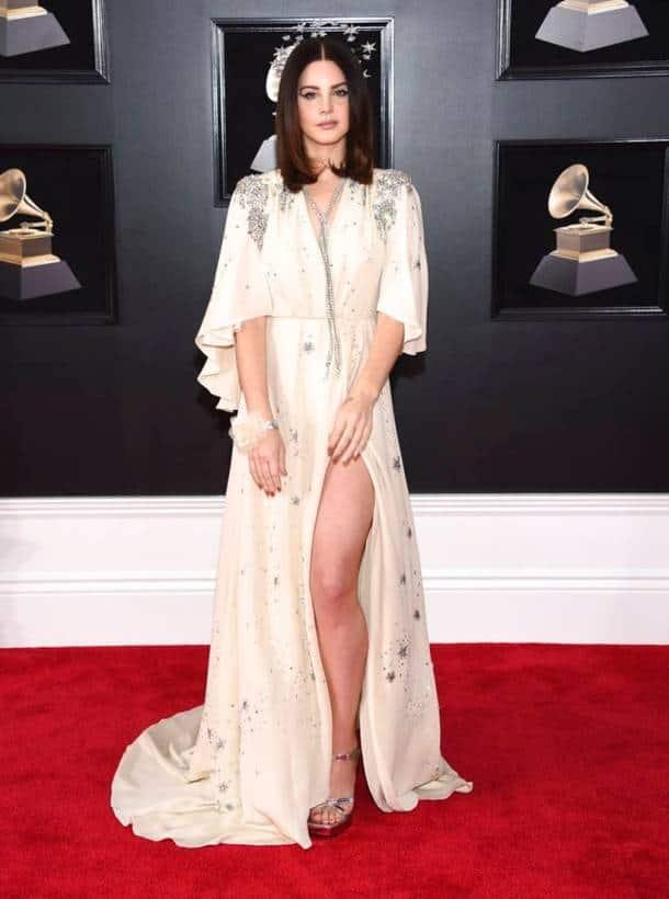60th annual Grammy awards, 60th annual Grammy awards fashion, 60th annual Grammy awards best dressed, 60th annual Grammy awards worst dressed, Miley Cyrus, Miley Cyrus fashion, Lady Gaga, Lady Gaga fashion, Lana Del Rey, Maren Morris , Joy Villa, indian express, indian express news
