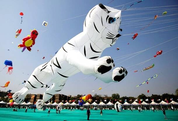 InternationalKite Festival, International Kite Festival Gujarat, Gujarat Kite Festival, Kite Festival, Kite Festival pictures, indian express, indian express news