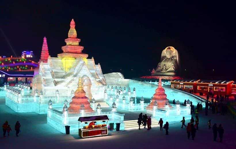 Harbin, Harbin International Ice and Snow Sculpture Festival, harbin ice festival, Heilongjiang, Heilongjiang china, world largest ice, world's largest ice and snow festivals, indian express, indian express news
