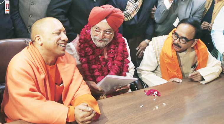 hardeep puri, rajya sabha elections, uttar pradesh rajya sabha seat, hardeep puri Rajya Sabha nomination, indian express, india news
