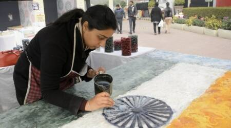 republic day, republic day 2018, India Republic Day, encaustic painting, wax painting, indian national flag, tricolour, chandigarh artist, national flag art,
