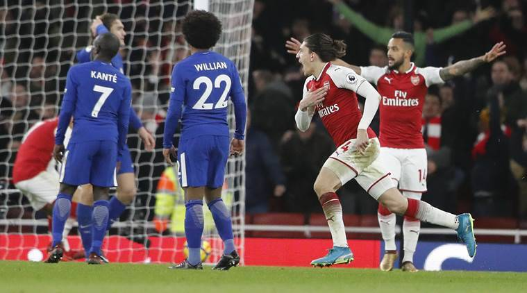 Arsenal drew 2-2 with Chelsea.
