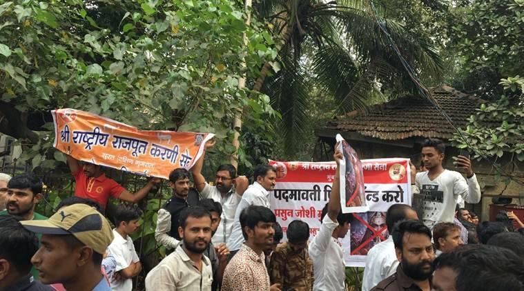 Padmaavat: Karni Sena protests outside CBFC office in Mumbai