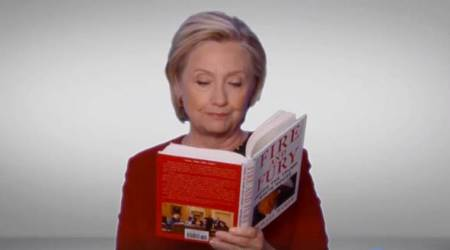 Video: Hillary Clinton reads 'Fire and Fury' at Grammy Awards, roasts DonaldTrump