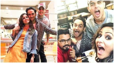 Hina Khan, Priyank Sharma Vikas Gupta day out pictures and video